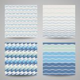 Set of sea wave. Patterns in  blue colors. Set of sea wave. Patterns in white and blue colors Royalty Free Stock Photo
