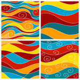 Set of sea waves background Royalty Free Stock Photos