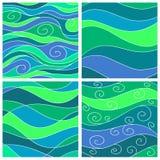 Set of sea waves background Royalty Free Stock Photos