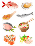 Set of  seafood icons Royalty Free Stock Photo