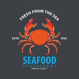 Set of seafood logo template Royalty Free Stock Image