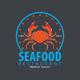 Set of seafood logo template Stock Images