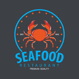 Set of seafood logo template Stock Photography