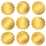 Set of seal or golden medals Royalty Free Stock Photo