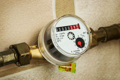 Set seal on the water meter Stock Image