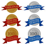 Set of Seals. Quality Seals With Different Sign in Two Colors / Vector Vector Illustration