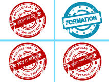 Set of seals Royalty Free Stock Images