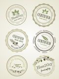 Set of seals, logo food safety, vector Stock Photography
