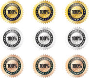 Set of seals quality premium and guarantee Stock Photography