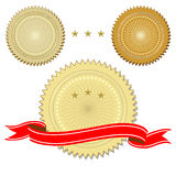 Set of seals with ribbon Royalty Free Stock Photography