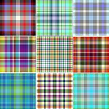 Set  seamless. Set various seamless background with squares Royalty Free Stock Image