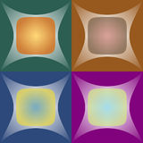 Set of seamless abstract background. Of geometric patterns with a gradient stock illustration