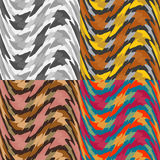 Set of seamless  abstract background. Wavy patterns royalty free illustration