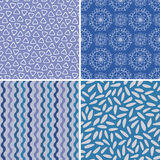 Set of seamless abstract and Christmas patterns Stock Image