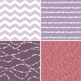 Set of seamless abstract and floral patterns Royalty Free Stock Photography