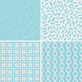 Set of seamless abstract and floral patterns Stock Photos