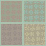 Set of seamless abstract floral patterns Royalty Free Stock Photo