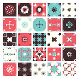 Set of Seamless abstract geometric pattern Royalty Free Stock Photo