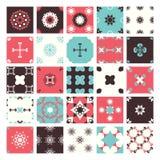 Set of Seamless abstract geometric pattern Royalty Free Stock Photo