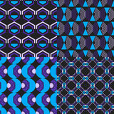 Set of seamless abstract geometric pattern Royalty Free Stock Photography