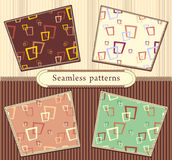 Set Seamless abstract geometric patterns Royalty Free Stock Photo