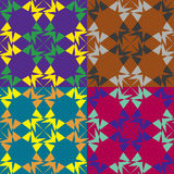 Set of seamless abstract pattern Stock Photography