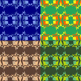 Set of seamless abstract pattern Stock Photos