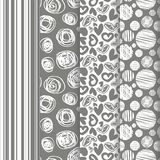 Set of seamless abstract pattern in retro style Royalty Free Stock Images