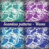 Set of seamless abstract  pattern, weaving, basket. Stock Photography
