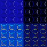 Set of seamless abstract patterns in blue tones. Vector illustration stock illustration