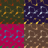 Set of seamless abstract patterns Royalty Free Stock Photo