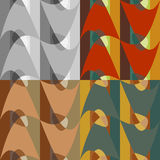 Set of seamless abstract patterns Stock Photos