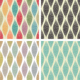Set of seamless abstract patterns. Set of four seamless abstract patterns Royalty Free Stock Photos