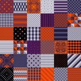 Set of seamless abstract patterns for Halloween holiday. Stock Photo