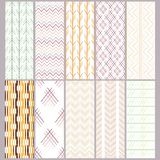 Set of seamless abstract patterns royalty free illustration