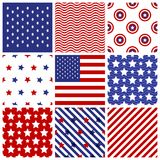 Set of seamless  in  american colors. Stock Images
