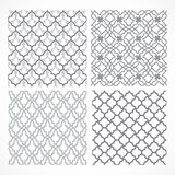 Set of seamless Arabic patterns Stock Photography