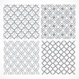 Set of seamless Arabic patterns Stock Photography