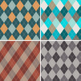 Set of seamless argyle patterns. Royalty Free Stock Images