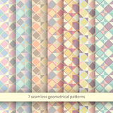 Set of Seamless Argyle Sweater Backgrounds. Vector patterns Royalty Free Stock Photo