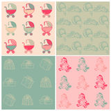 Set of Seamless Baby Backgrounds Royalty Free Stock Photo