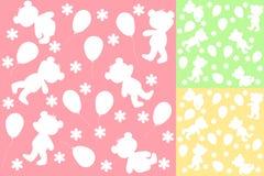 Set seamless. Baby bears. Vector illustration Stock Photography