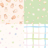 Set of  seamless baby pattern Stock Photos