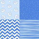 Set of seamless baby patterns Royalty Free Stock Photography