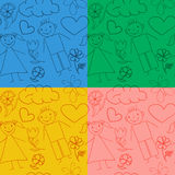 Set of seamless baby patterns. Stock Photography