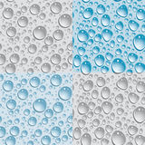 Set of 4 Seamless background drops of water.. Set of 4 Seamless background drops of water Royalty Free Stock Images