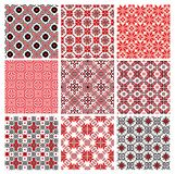 Set of seamless background with ethnic patterns. Royalty Free Stock Photography
