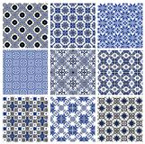 Set of seamless background with ethnic patterns. seamless pattern in folk style Royalty Free Stock Photo