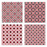 Set of seamless background with ethnic patterns. seamless pattern in folk style. Royalty Free Stock Photo