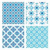 Set of seamless background with ethnic patterns. seamless pattern in folk style. Royalty Free Stock Photography